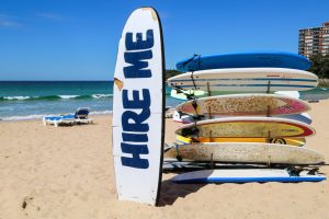Surf boards hire me at Canalside Inn