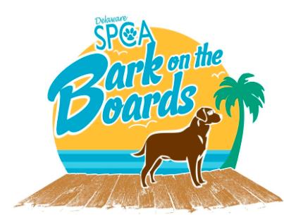 Delaware SPCA bark on the boards rehoboth beach logo