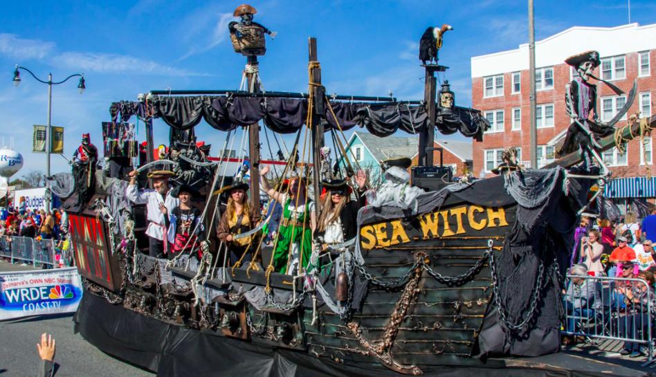 Rehoboth Beach Delaware Sea Witch Parade ship