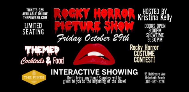 The Pines Rehoboth Beach Rocky Horror Picture Show Flyer